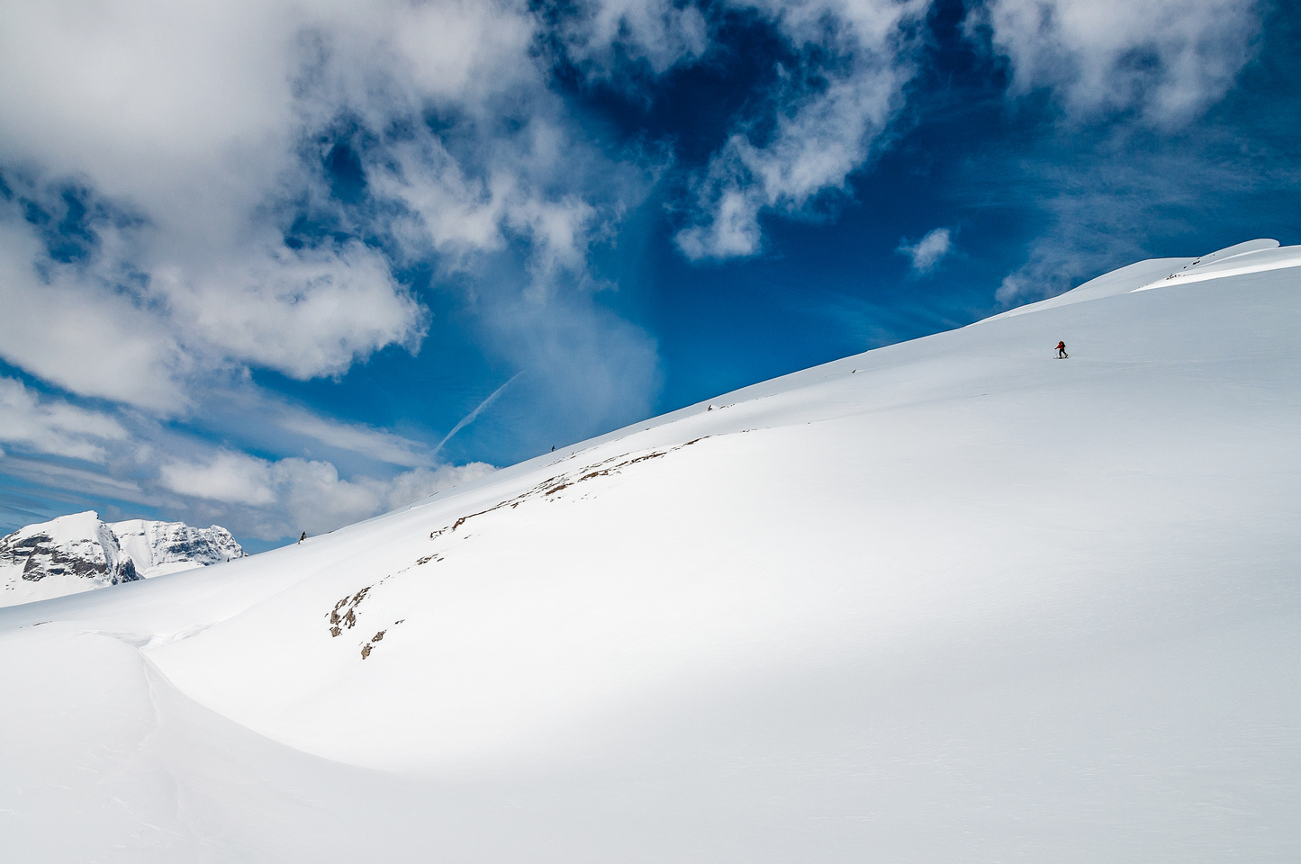 This is big terrain - you really need stability to be on it with this much snow!