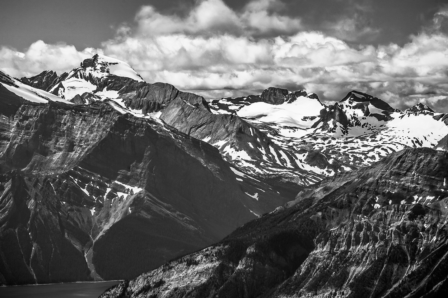 Mount Joffre and some of the Aster Lake area peaks.