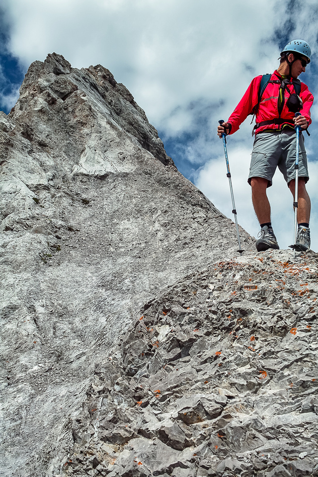 The terrain from the first window to the second is either moderate scrambling or scary climbing, depending where you end up.