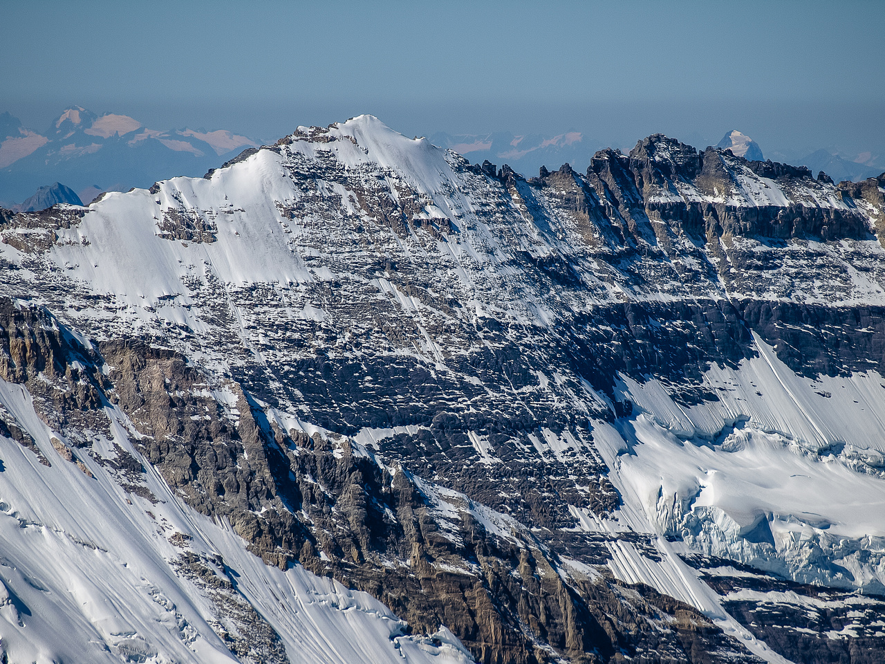 A great view of two of the classic 11,000ers in the Lake Louise Area. Victoria South on the left and North on the right.
