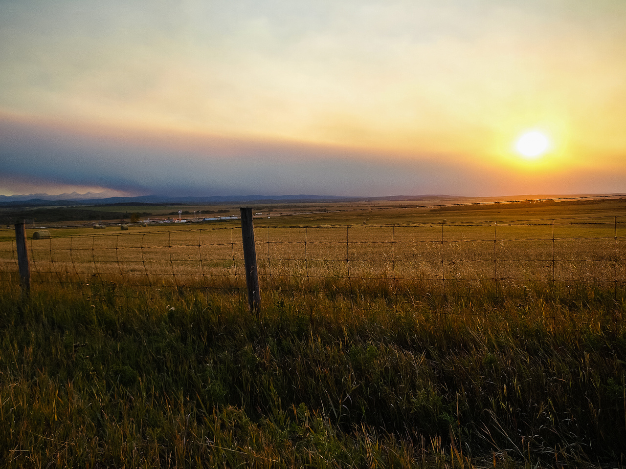 Back near Calgary the smoke and haze thickens considerably.