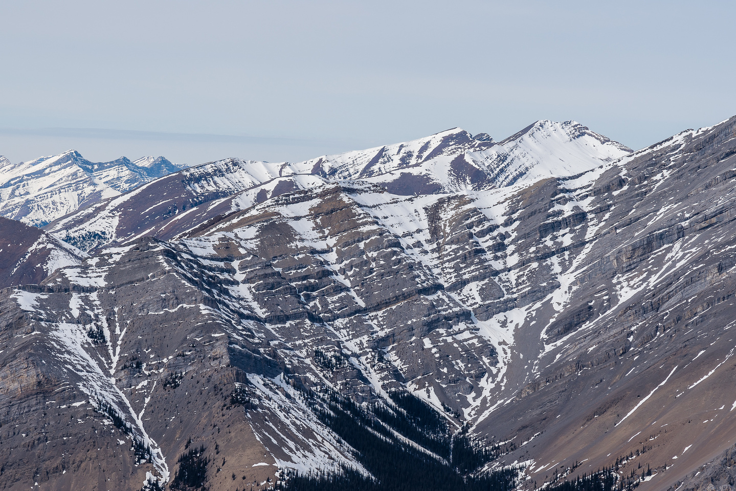 Views towards Mount White (R).