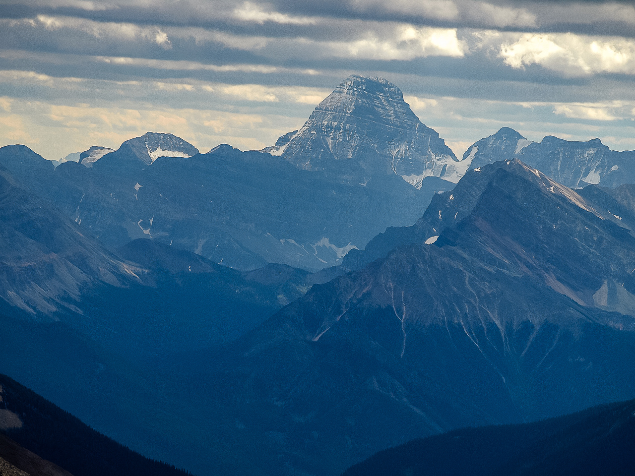 It would take another 5 years before I'd finally stand on the summit of this king of the Rockies - Mount Assiniboine.