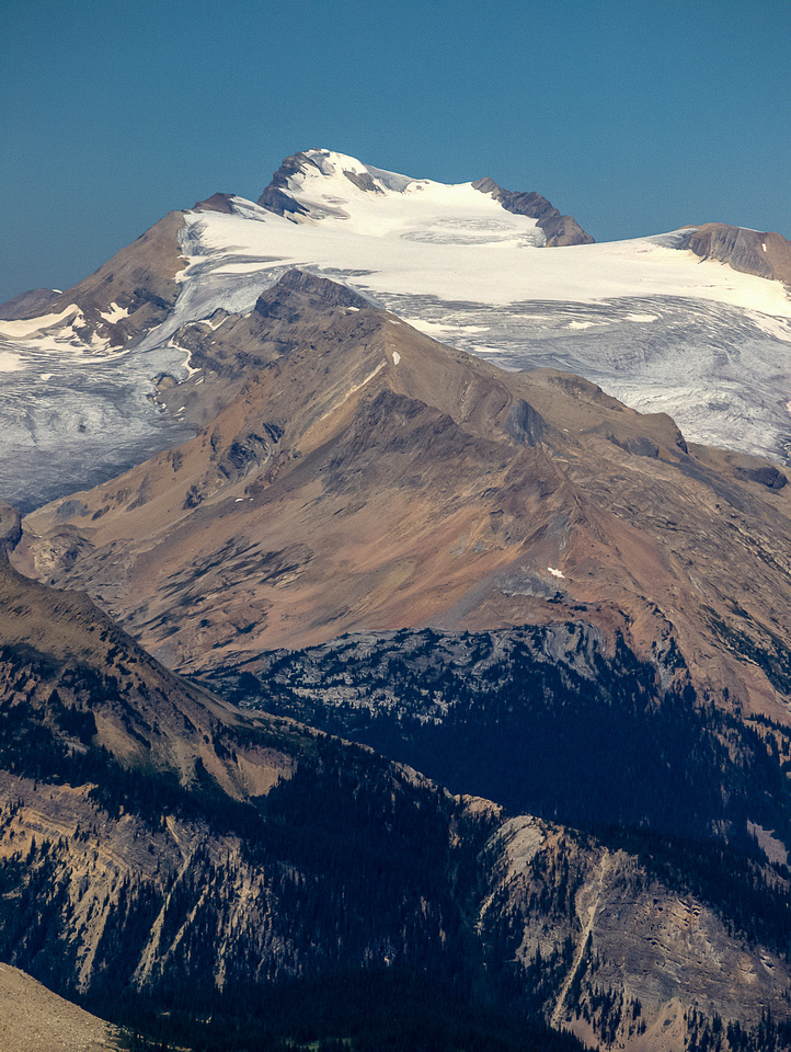 Mount Collie is one of the spiciest summit ridges on the Wapta Icefield with tremendous avalanche risk and exposure.