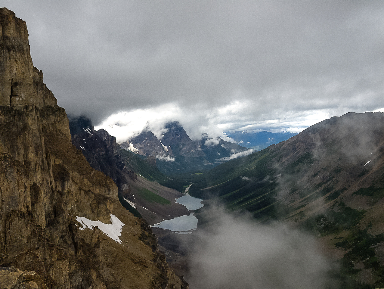 Moody views over the Consolation Lakes.