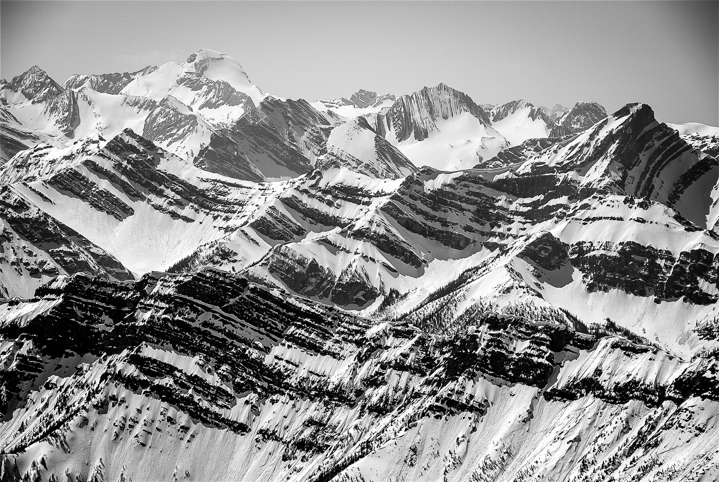 Telephoto of Mount Joffre (L) and Lyautey (C).