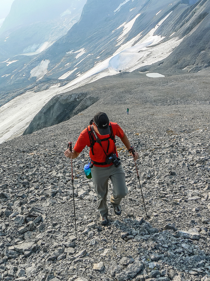 Lots of scree to the summit of Warrior along the south ridge.