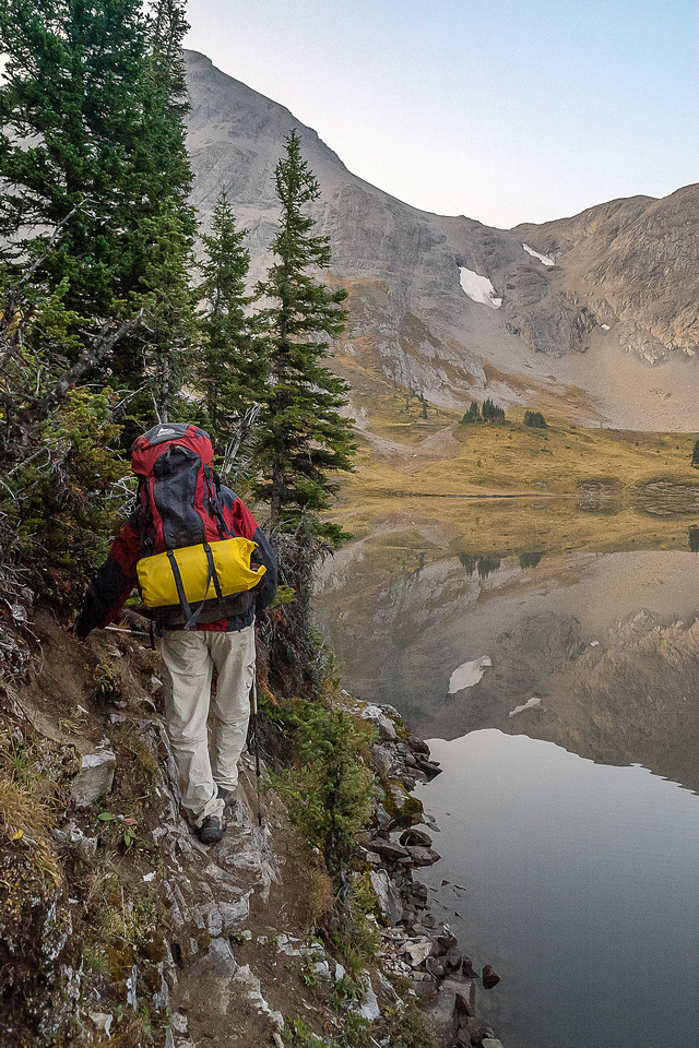 There are a few tight spots along Aster Lake!
