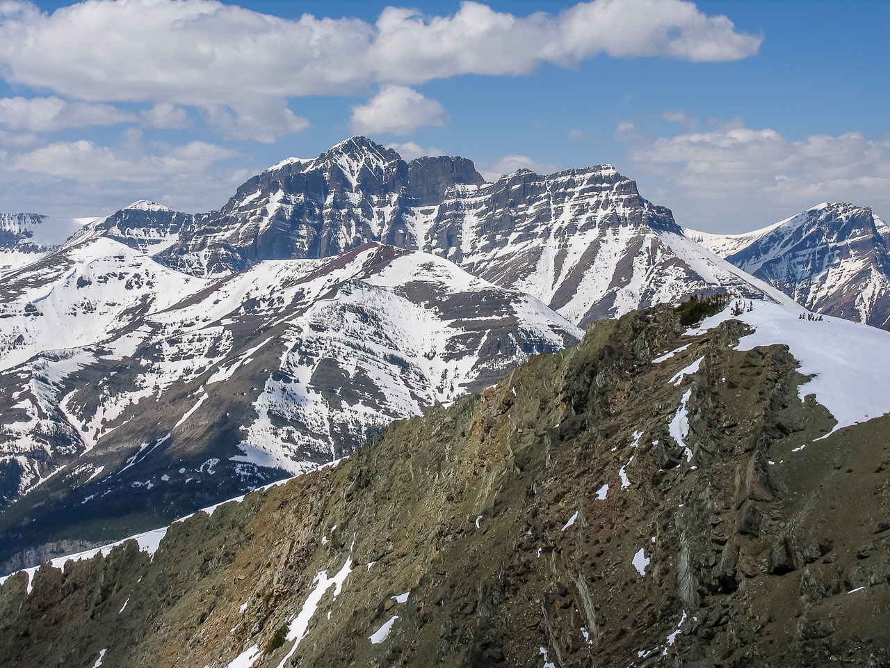Blakiston is an impressively large mountain in Waterton.
