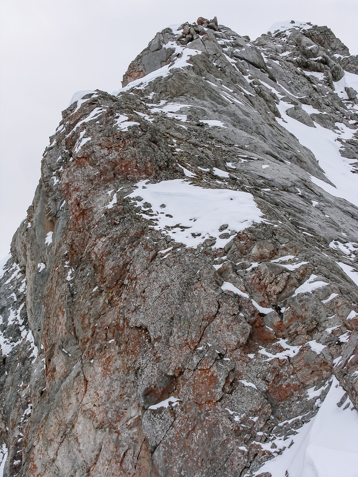 More views of the exposure on the summit ridge.