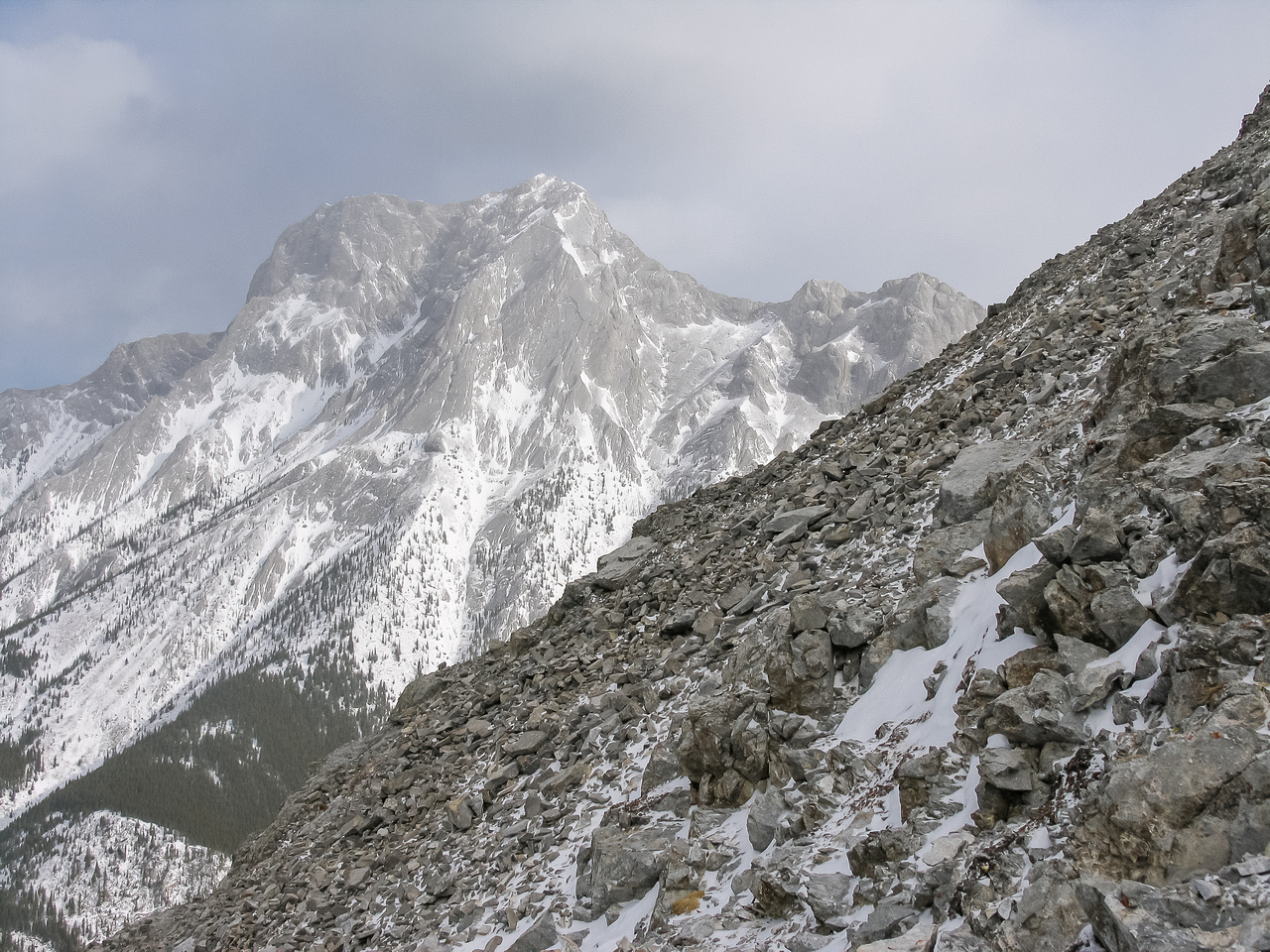 The Wedge from the descent slopes of Opal Ridge North.