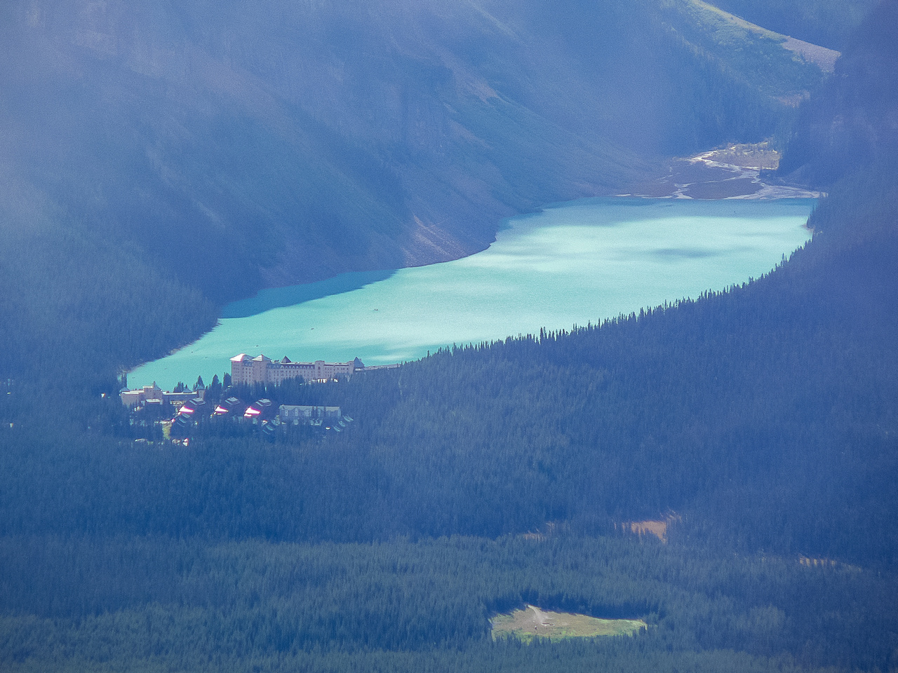 Lake Louise from Richardson.
