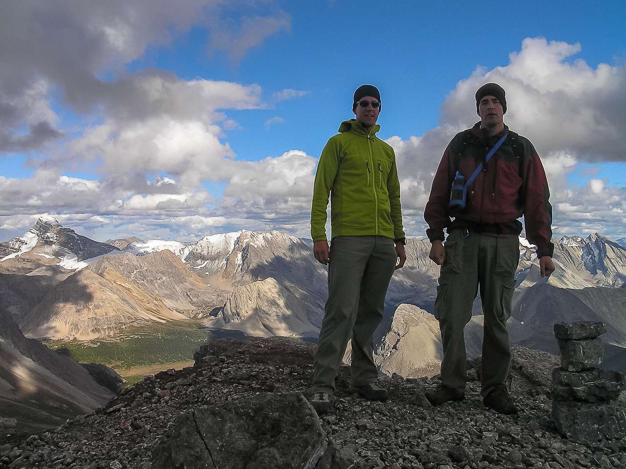 Vern and Jon on the summit of Ptarmigan Peak.