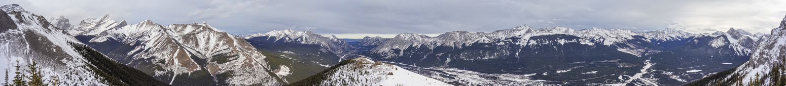 Pano from the summit of Kidd Junior, looking over the lookout to the north.