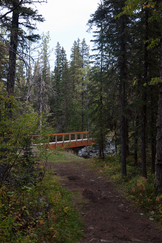 The bridge near the trailhead.