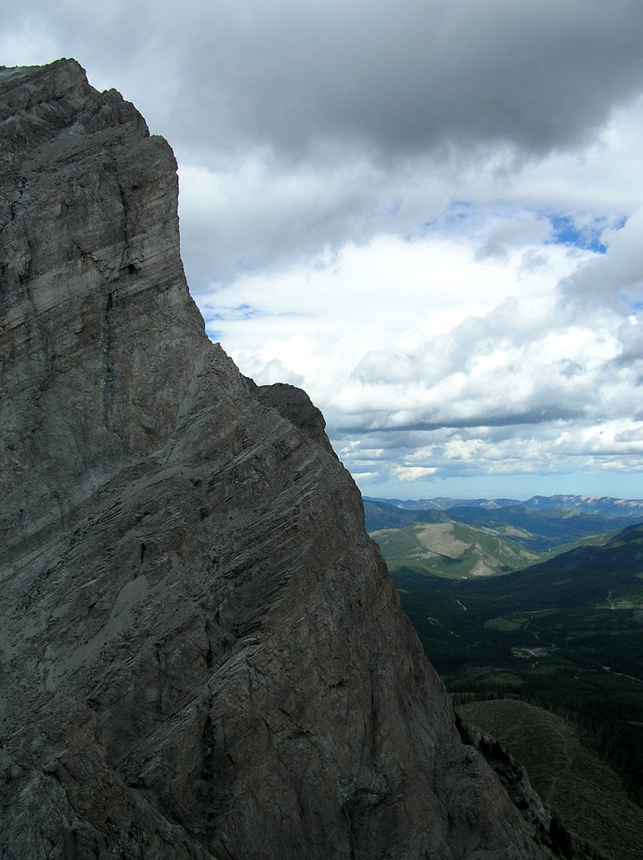 Descending from the summit of Window Mountain.
