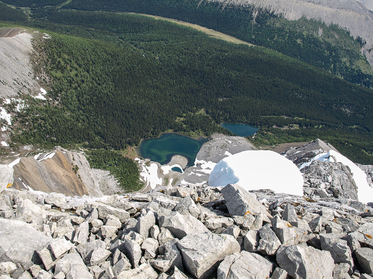 Tombstone Lakes from near the summit.