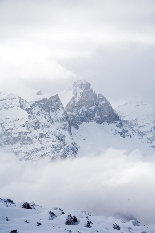 Cathedral Crags look very dramatic from the summit of Paget Peak.