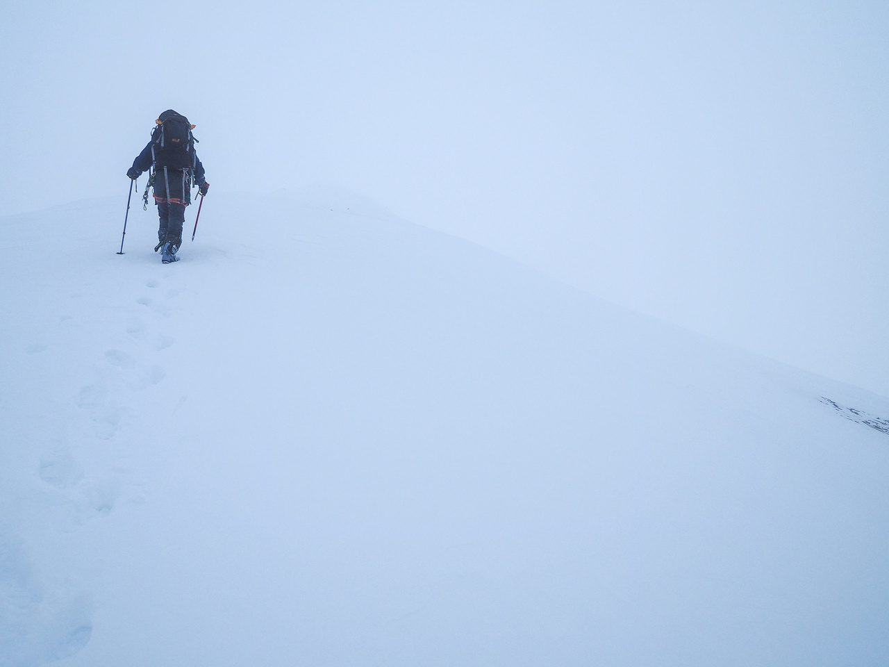 The views from the summit plateau were stunning - we just couldn't actually SEE them!