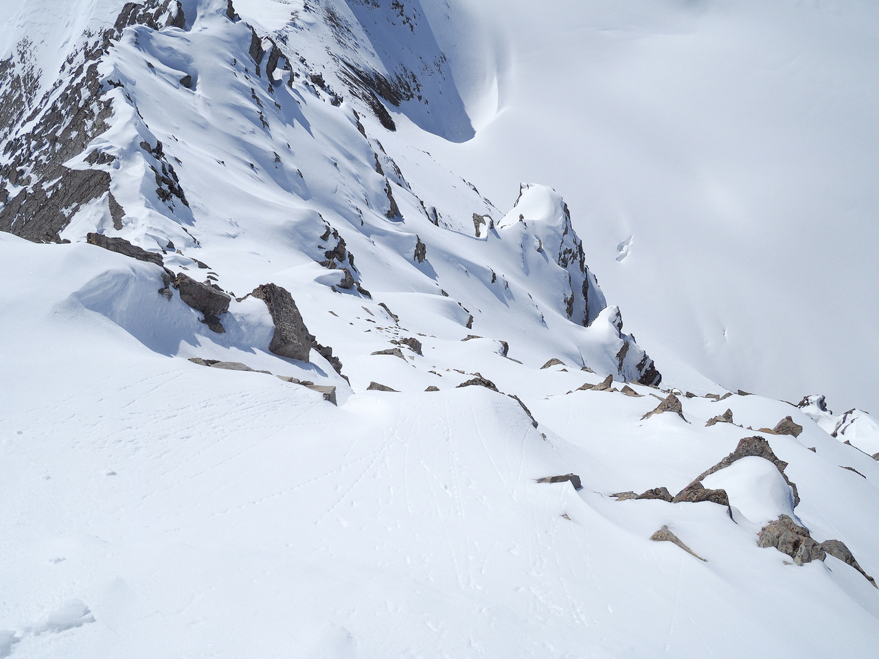 The exposure off the tiny summit snow drift is pretty severe - kind of reminded me of West Twin but smaller.