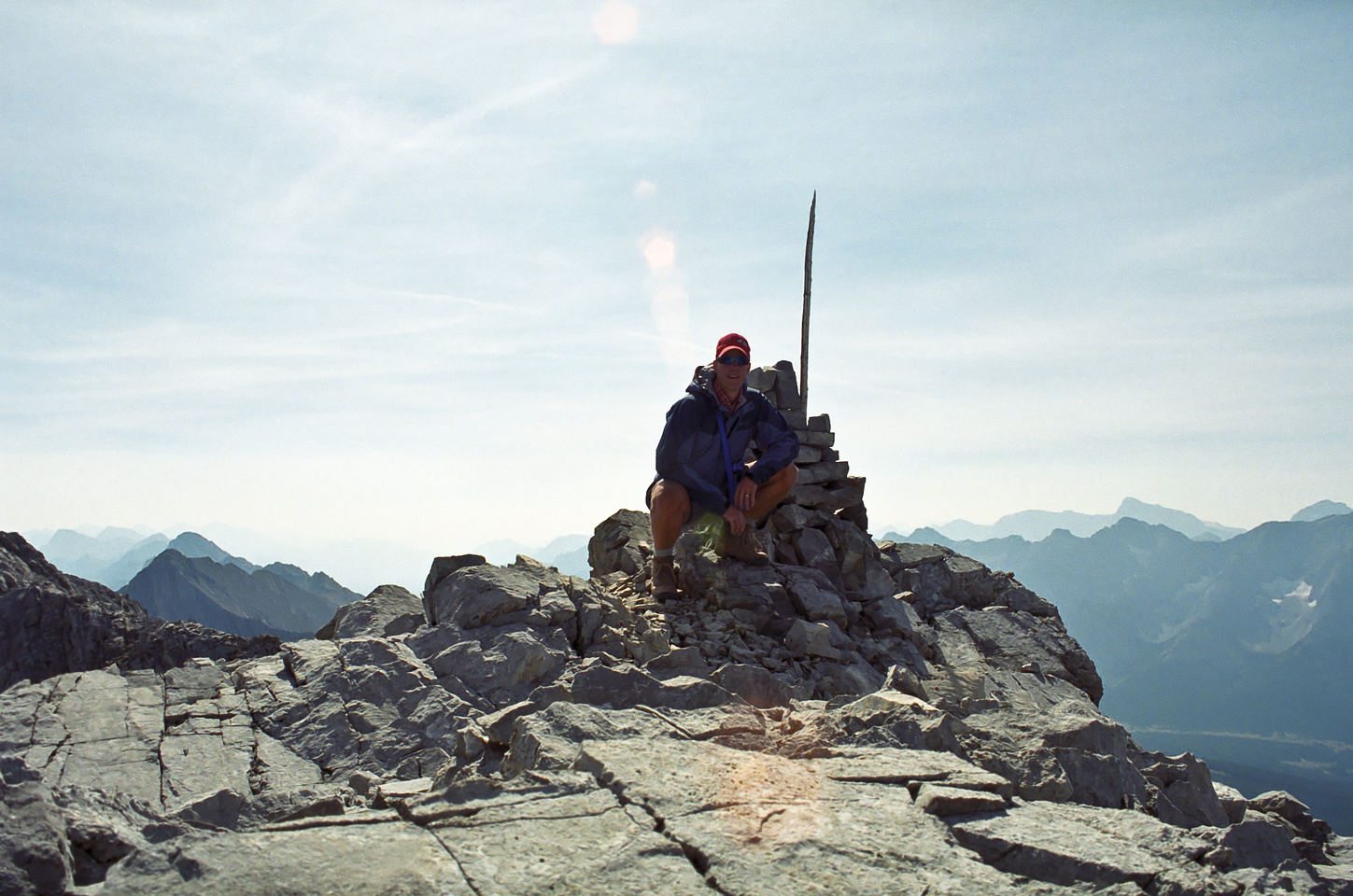 Vern at the summit of Pocaterra