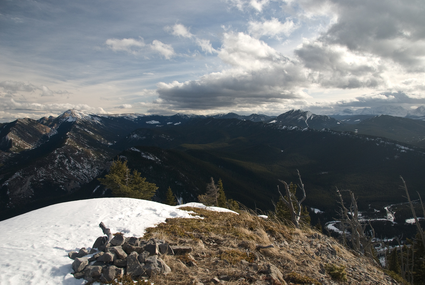 Burke at left, Hell's and Raspberry Ridge at right.