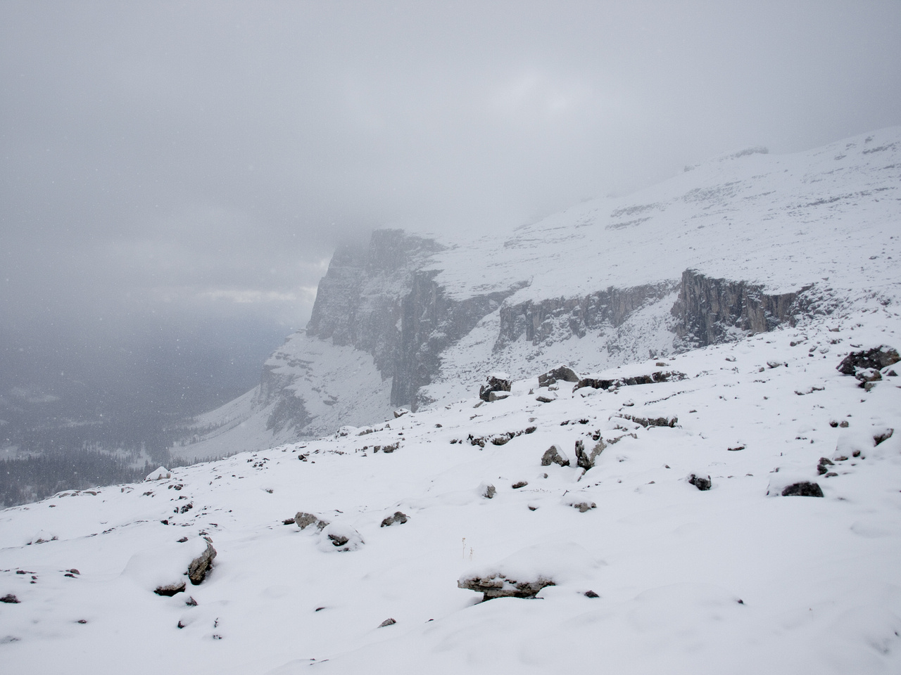 More snow and weather as we ascend.